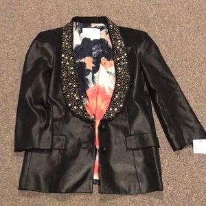 Rachel Roy embellished collar blazer NWT 10